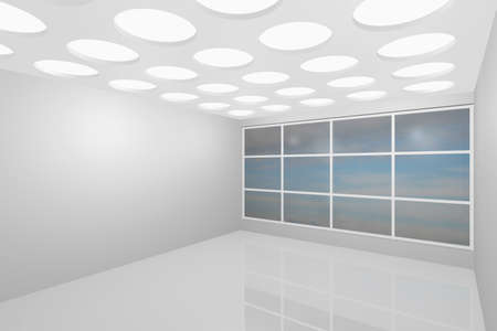 3D visualization of a modern interior empty new room Stock Photo - 8921291
