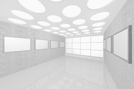3D visualization of a modern interior picture gallery Stock Photo - 8921293