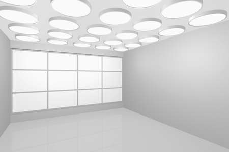 3D visualization of a modern interior empty new room Stock Photo - 8921290