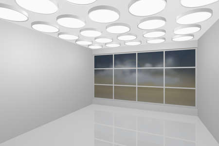 3D visualization of a modern interior empty new room Stock Photo - 8921292