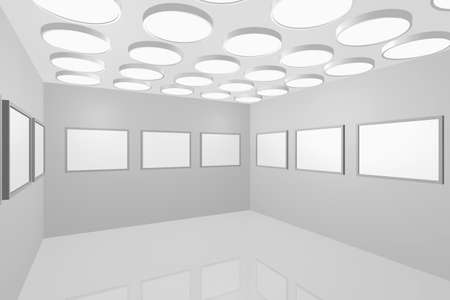 3D visualization of a modern interior picture gallery Stock Photo - 8921289