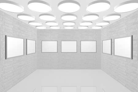3D visualization of a modern interior picture gallery Stock Photo - 8921297