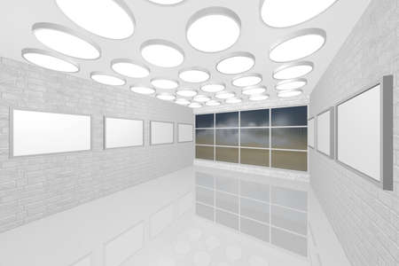 3D visualization of a modern interior picture gallery Stock Photo - 8921296