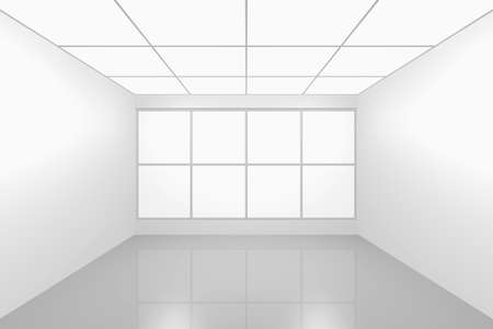 3D visualization of a modern futuristic interior empty new room Stock Photo - 8995080