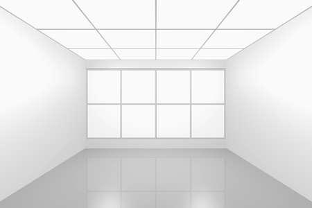 3D visualization of a modern futuristic interior empty new room Stock Photo - 8995080