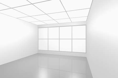 3D visualization of a modern futuristic interior empty new room Stock Photo - 8995081