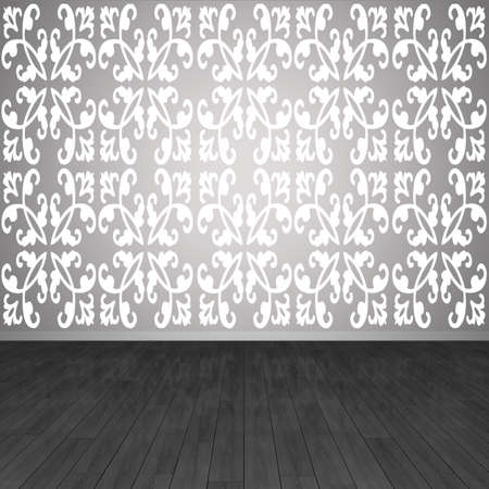3D inter. Fragment of wall and floor in an empty room. Stock Photo - 8995141