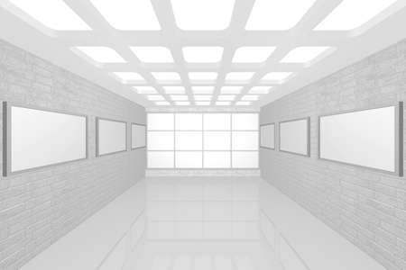 3D visualization of a modern interior picture gallery Stock Photo - 9231241