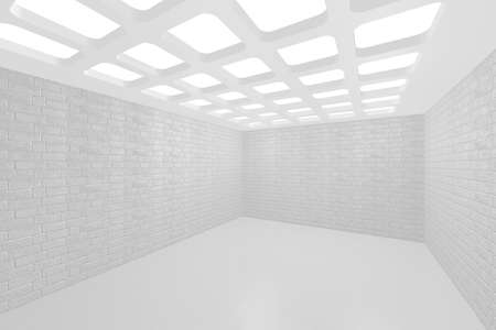 3D visualization of a modern interior empty new room Stock Photo - 9231254