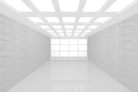 3D visualization of a modern interior empty new room Stock Photo - 9231250