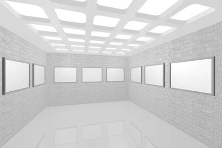 3D visualization of a modern interior picture gallery Stock Photo - 9231248