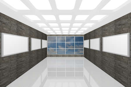 3D visualization of a modern interior picture gallery Stock Photo - 9231247