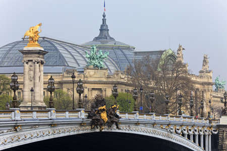 Bridge Alexander III, and the Grand Palace in the background. Paris, France. Stock Photo - 22177639