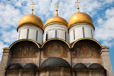 assumption: The Assumption Cathedral of the Moscow Kremlin, Russia  Stock Photo