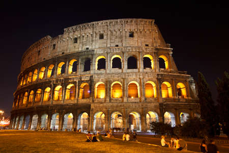 The Colosseum, the world famous landmark in Rome photo