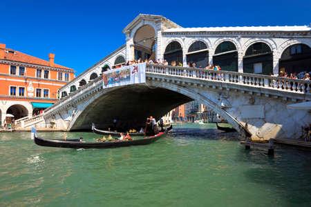 Rialto Bridge over the Grand Canal in Venice. Italy.