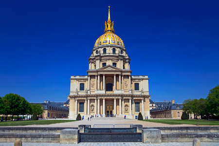 View of front the Cathedral of Invalides. Paris, France.  photo