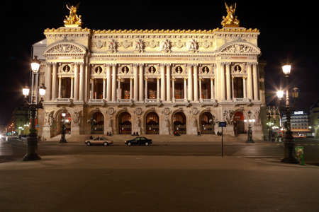 Facade of The Opera or Palace Garnier. Paris      Stock Photo