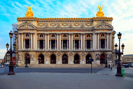 Facade of The Opera or Palace Garnier. Paris, France.