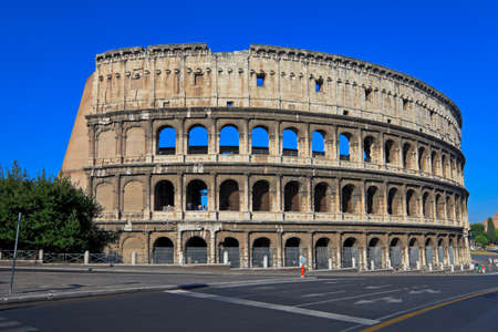 The Colosseum, the world famous landmark in Rome, Italy Stock Photo