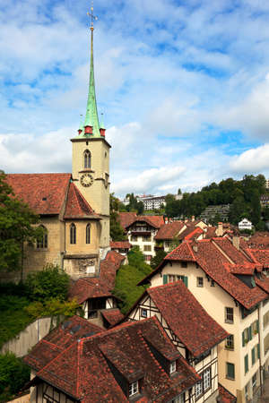 Colorful town houses in Bern photo