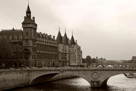 Castle of the Conciergerie and the bridge Changed. Paris, France.