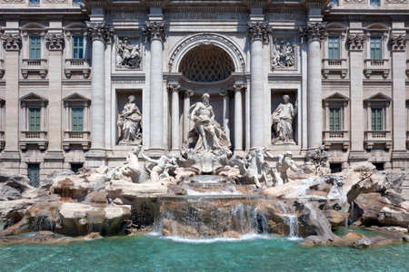 Trevi Fountain, the most famous fountain in Rome. Italy. photo