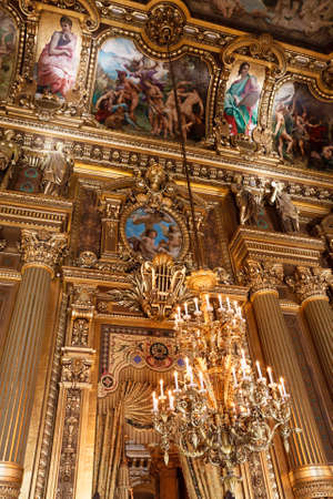 The Opera or Palace Garnier. Interior of a Large Foyer. Paris, France. Stock Photo - 22330994