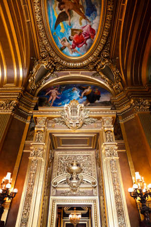 The Opera or Palace Garnier. Interior of a Large Foyer. Paris, France. Stock Photo - 22330995