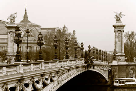 Bridge Alexander III, and the Grand Palace in the background. Paris, France. Stock Photo - 22364685