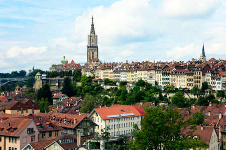 Bern, the capital of Switzerland. Panorama with cathedral. photo