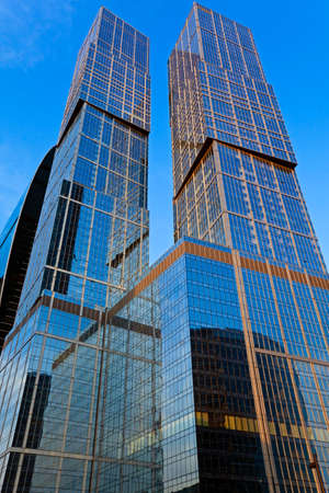 Skyscrapers, stretching to the heavens.
