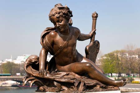 Sculpture decorating the bridge of Alexander III in Paris. Stock Photo - 22422001