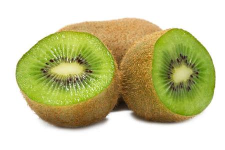 Juicy kiwi halves closeup