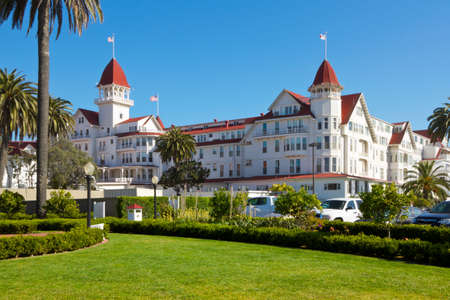 Historic resort hotel Del Coronado in San Diego built in 1888 , California, USA      Editorial