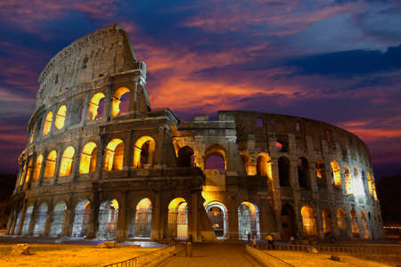 The Colosseum, the world famous landmark in Rome
