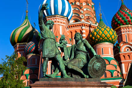 minin: The monument to Minin and Pozharsky on the Red Square in Moscow.