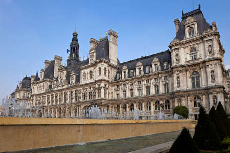 Hotel de Ville, City Hall of Paris. France.  Stock Photo - 22688787