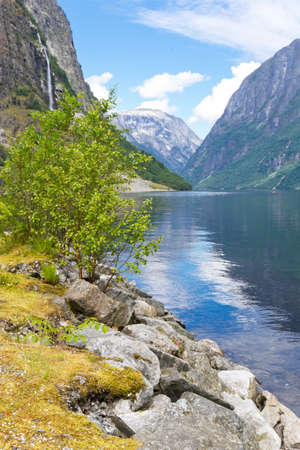 Scenic view of the Sognefjord, Norway. Stock Photo