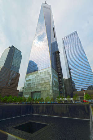 NEW YORK CITY - MAY 21: 911 Memorial at World Trade Center Ground Zero, MAY 21, 2014 in New York City. The Memorial honors people killed in the terror attacks of September 11, 2001.