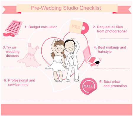 Hochzeit Studio Checkliste Infografik Standard-Bild - 49127647