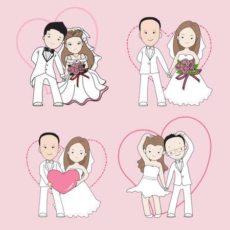 wedding love: Wedding cartoon Illustration