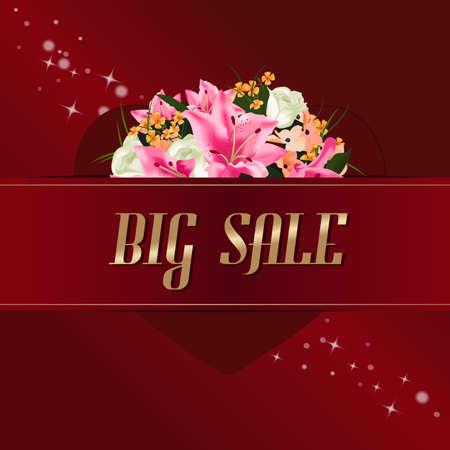 Valentinstag Verkauf background.Abstract Verkauf Hintergrund Standard-Bild - 51060805