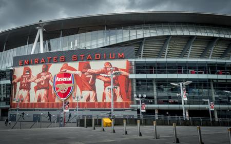 Arsenal Emirates Stadium, London, United Kingdom - June 26, 2016 : Arsenal stadium with a dramatic sky, London United Kingdom