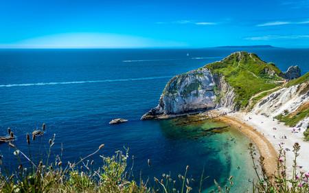 The beautiful Man O War beach near Durdle Door, Jurassic Coast, England, United Kingdom