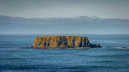 The sheep island near giant causeway, Northern Ireland, UK