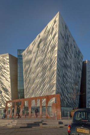 BELFAST, NORTHERN IRELAND - December 29, 2016: Titanic multimedia museum and visitors information center in Belfast