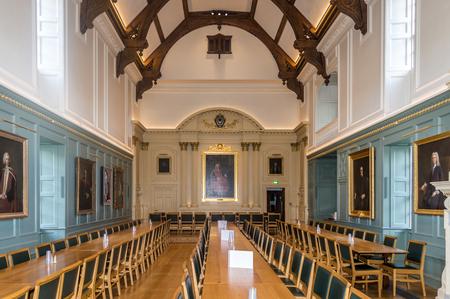 The interior of the trinity collage, Cambridge, United Kingdom