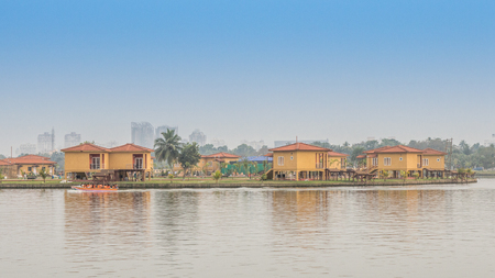 A view of the Eco Park Kolkata on a lovely summer evening, Kolkata, West Bengal Stock Photo