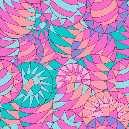 psychoanalysis: Seamless abstract  pattern with colorful circles